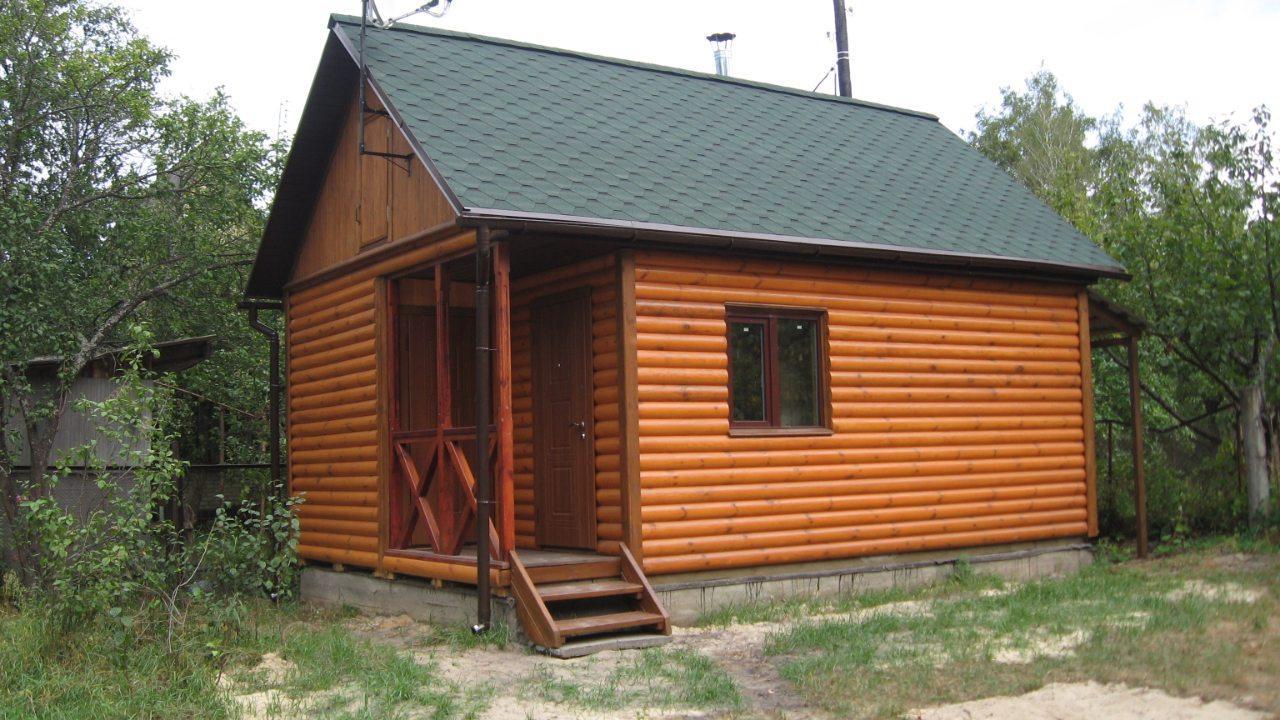 Дачний будиночок 6м х 8 м з вбудованою терасою