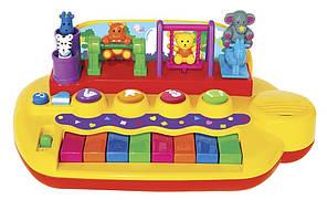 Пианино Зверята на качелях со звуком Kiddieland 033423