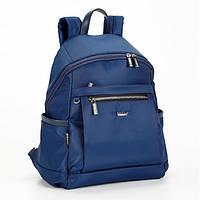 Рюкзак женский тканевый небольшой синий городской Dolly 385 молодежный один отдел 25 х 35 х 15см