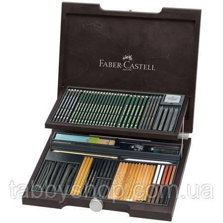 Набір Faber Castell PITT MONOCHROME 112971 в дерев'яній коробці (86 предметів)