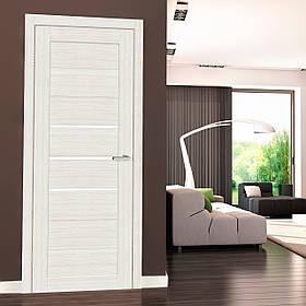 "Дверне полотно Cortex Deco 06 дуб Bianco ""ПО-сатин"" ""Оміс"""