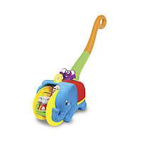 Каталка детская Слон циркач со светом на русском языке Kiddieland 049759