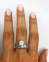 Кольцо из серебра 925 My Jewels в стиле обручального с надписью LOVE (размеры 17-18,5), фото 1