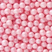 Посыпка сахарная для кондитерских изделий Жемчуг розовый, 5 мм, 20 г