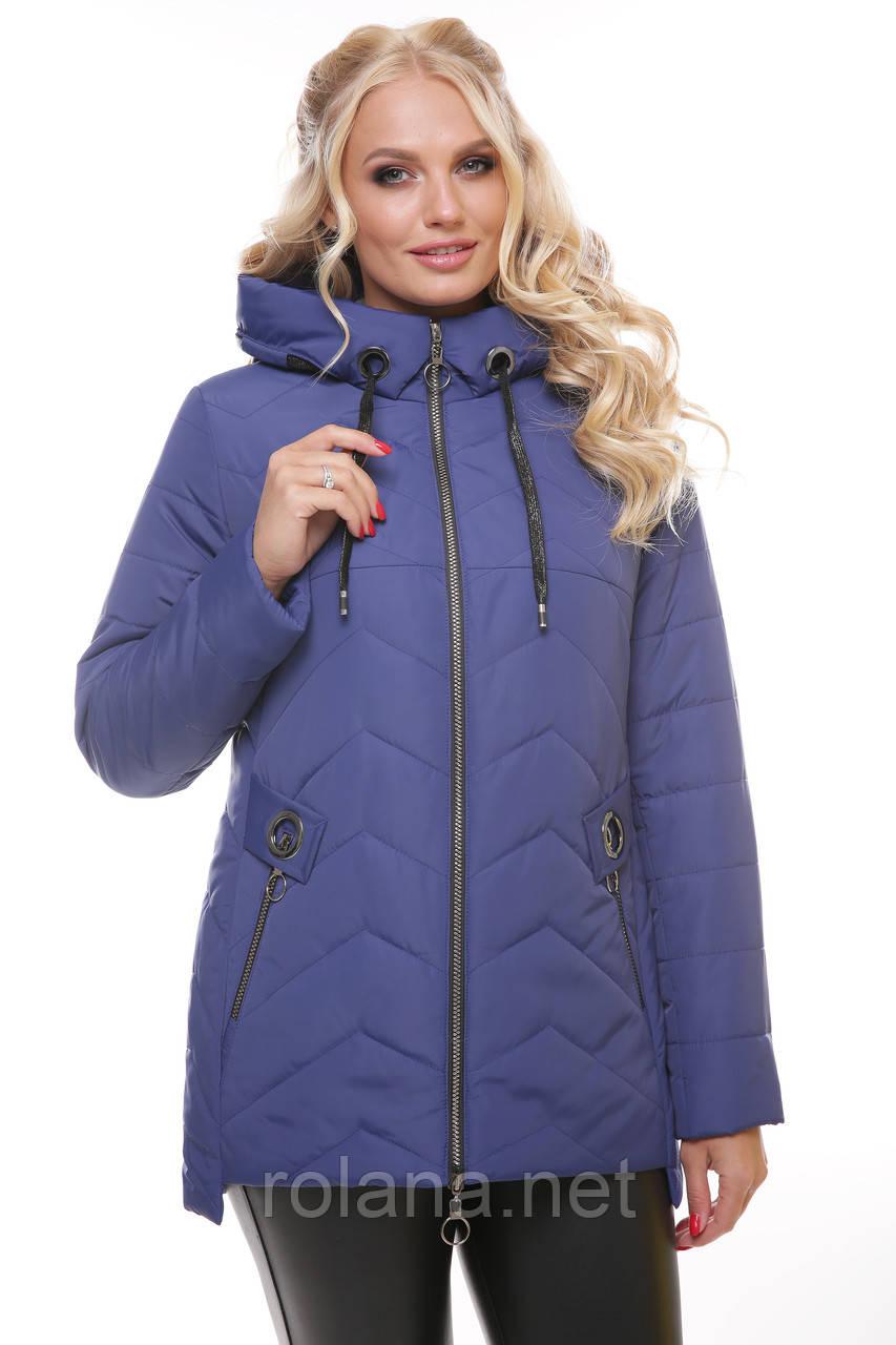 """Легкая женская куртка с капюшоном. """"Синяя"""""""