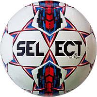 Мяч футбольный Select Taifun бело-красный, р. 5, ламинированный
