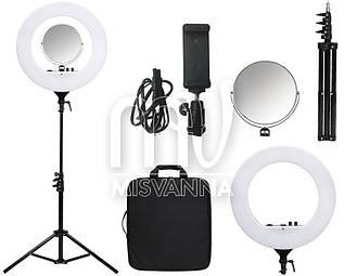 Профессиональная кольцевая лампа PLH-480L с штатив-треногой для косметологии