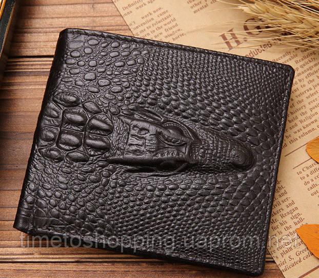 Мужской кошелек кожаный Крокодил. Отличный выбор!