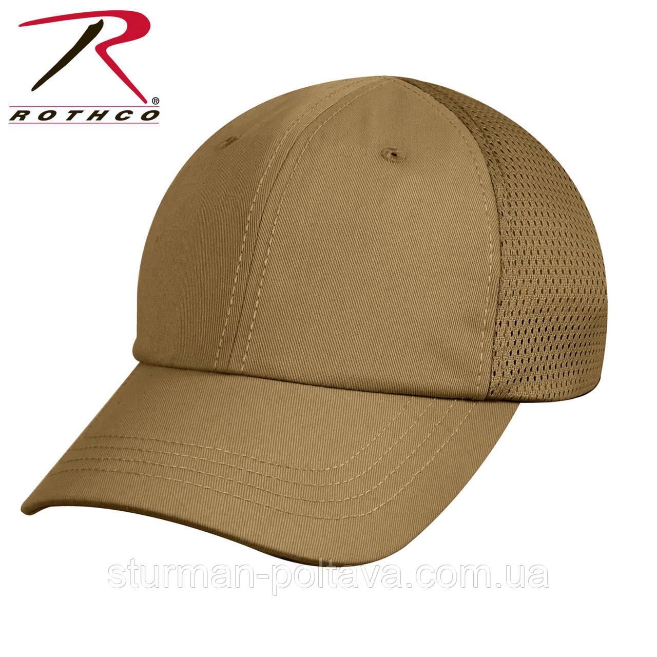 Бейсболка  мужская тактическая с вентилляционной   сеткой Mesh Back Tactical Cap  койот Rotcho USA