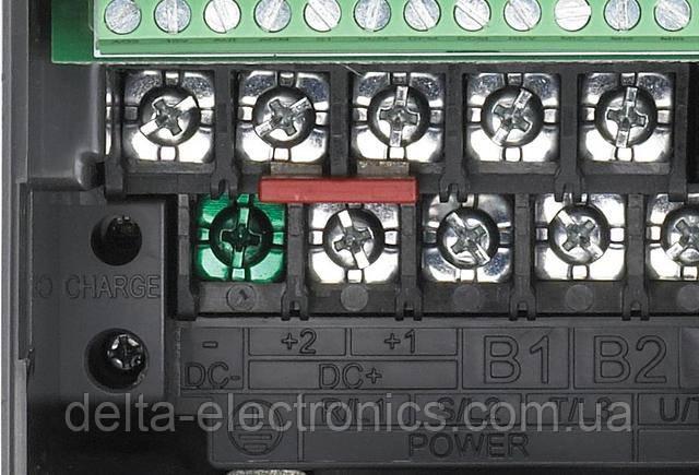 Внешний дроссель постоянного тока можно подключить вместо перемычки