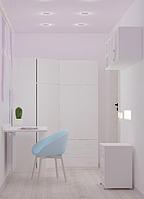 Детская комната белая  Белоснежка (детская мебель по индивидуальному проекту)