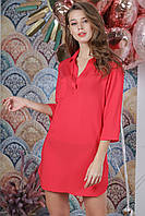 Пляжная туника рубашка, цвет - коралловый.