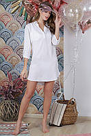 Пляжная туника рубашка, цвет - белый.