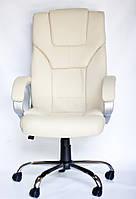 Офисное кресло София, бежевое, обивка из экокожи