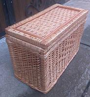 Ящик из лозы плетеный