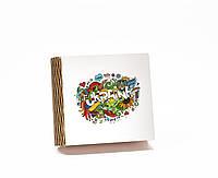Шкатулка-книга на магните с 4 отделениями Графіті Україна