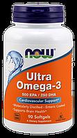 Жирні кислоти NOW Foods Ultra Omega-3 (500 EPA/250 DHA) 90 Softgels