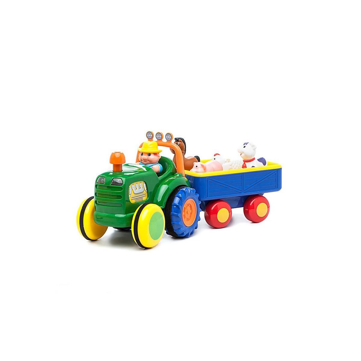 Іграшка на колесах Трактор з трейлером Kiddieland 024753