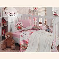 Дитяча постільна білизна в ліжечко з в'язаним пледом Турція