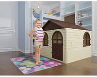 """Игровой домик для детей от 1 года, бежевый с коричневой крышей """"Фламинго"""""""
