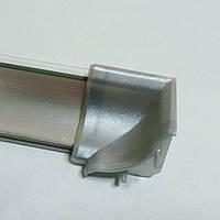 Угол внутренний на плинтус алюминиевый узкий 14х14 мм