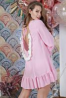 Туника пляжная с открытой спиной, цвет - нежно-розовый.
