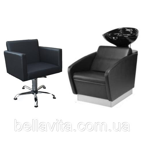 Комплект парикмахерской мебели Квадро