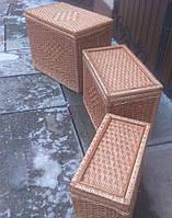 Набор ящиков плетеных из лозы, фото 1
