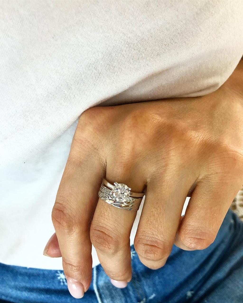 """Кольцо из серебра 925 My Jewels в стиле обручального """"диагонали"""" (размеры 17,5)"""