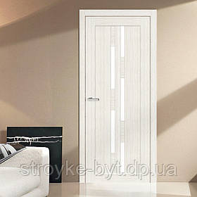 "Дверне полотно Cortex Deco 08 дуб Bianco / Bianco Line ""ПО-сатин"" ""Оміс"""