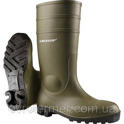 Захисні гумові чоботи Dunlop Protomastor оливкові