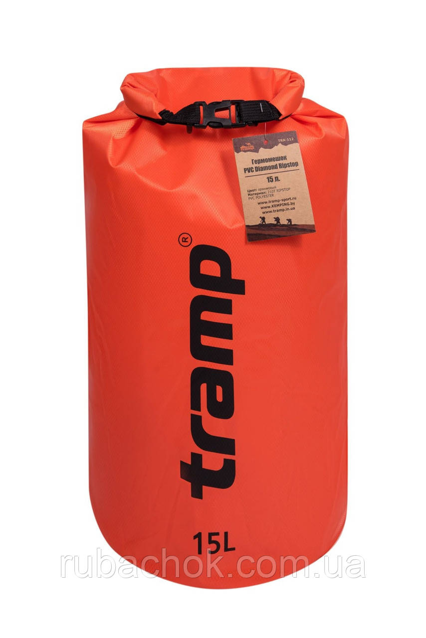 Гермомешок Tramp PVC Diamond Rip-Stop оранжевый 15 л