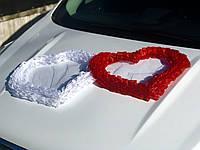 Сердца гофра красно-белые (123)