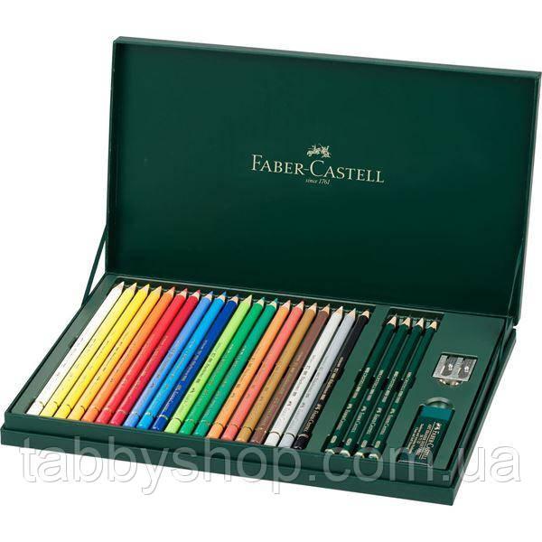 Кольорові олівці Faber Castell POLYCHROMOS 210051 (20 кол.) + аксесуари
