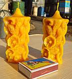 """Восковая свеча """"Маки и Колоски"""" из натурального пчелиного воска, фото 2"""