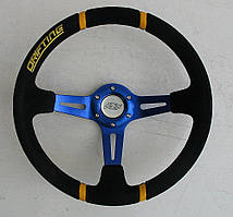 Руль ASP Drifting синий замшевый