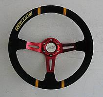 Руль ASP Drifting красный замшевый