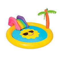Детский надувной центр бассейн Bestway Солнышко 53071