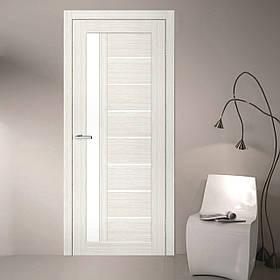"Дверне полотно Cortex Deco 09 дуб Bianco / Bianco Line ""ПО-сатин"" ""Оміс"""