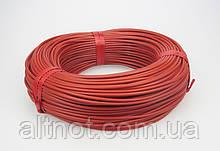 Нагревательный карбоновый кабель, R-33 Ом/м.пог, d-3мм. в силиконовой изоляции - для инкубатора