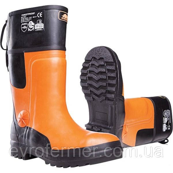 Резиновые сапоги Forestry boots для работы в лесу с защитой от порезов