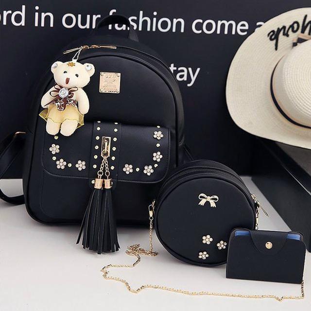 рюкзак с набором аксессуаров черный