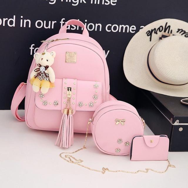 рюкзак с набором аксессуаров розовый