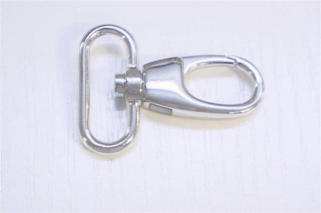 Карабін 5940 нікель 32 мм., фото 2