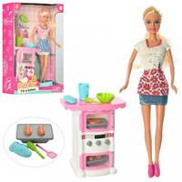Кукла DEFA 8421  29см, кухня, посуда, 2 вида, в кор-ке, 22-32-7,5см(DEFA 8421)