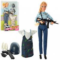 Кукла с нарядом DEFA 8388-BF  шарнирн, 29см, полиция, платье, 2вида, в кор-ке, 21,5-31,5-5см(DEFA 8388-BF)
