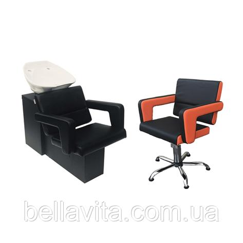 Комплект парикмахерской мебели Фламинго, фото 2