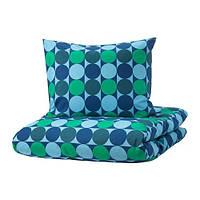 IKEA KROKUSLILJA (204.232.87)Комплект постельного белья, разноцветный, 150x200/50x60 см