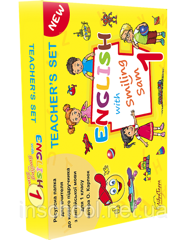 """Англійська 1 клас. НУШ Набір для вчителя """"English with Smiling Sam""""(плакати,флеш-карти,картки з літерами)., фото 2"""