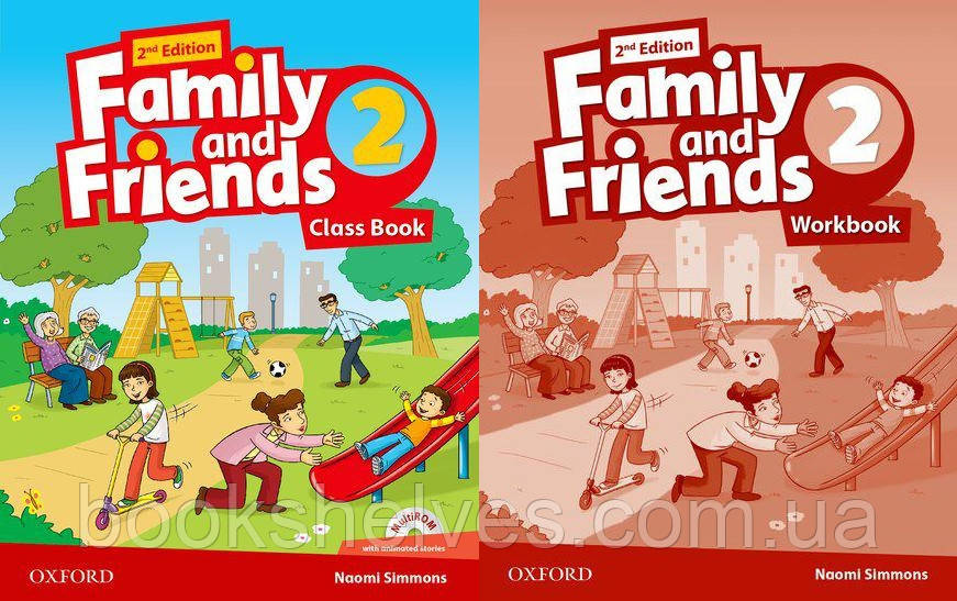 Английский язык Комплект Family and Friends 2nd Second Edition 2 ClassBook + WorkBook (UA)